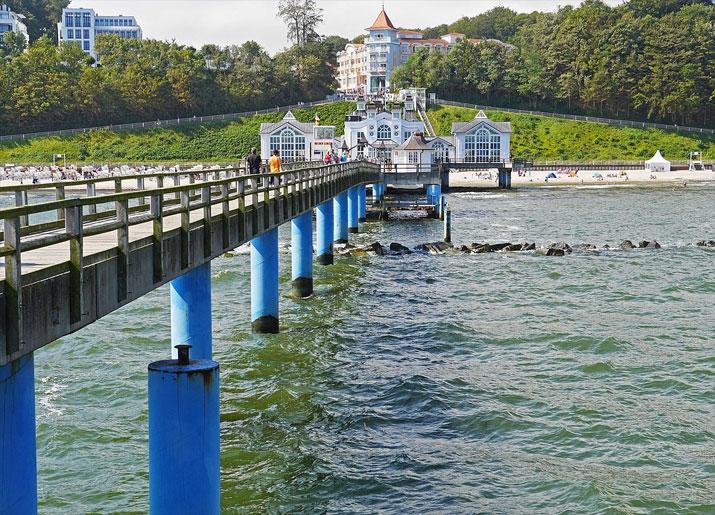 Seebrücke Sellin, Blick auf Strand